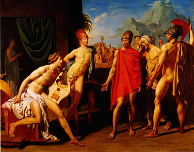 Ambassadors Sent By Agamemnon To Urge Achilles To Fight 1801 Art Print by MotionAge Designs