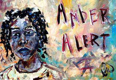 Abducted Painting - Amber Alert - Relisha Rudd by Luther Wright