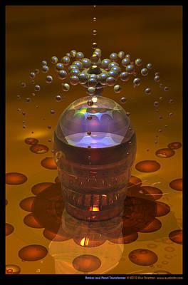 Pearlescent Digital Art - Amber And Pearl Transformer  by Ann Stretton