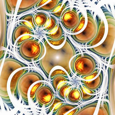 Digital Art - Amber Clusters by Anastasiya Malakhova