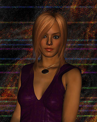 Digital Art - Amber Digital Portait by Judi Suni Hall
