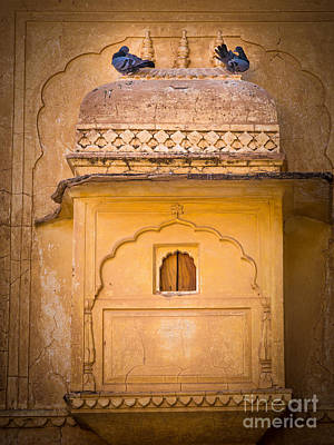 Pigeon Photograph - Amber Fort Birdhouse by Inge Johnsson