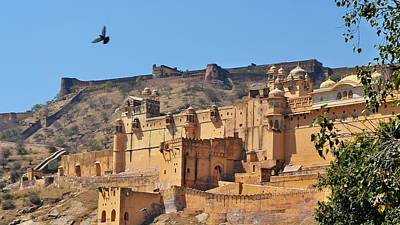Photograph - Amber Fort View - Jaipur India by Kim Bemis