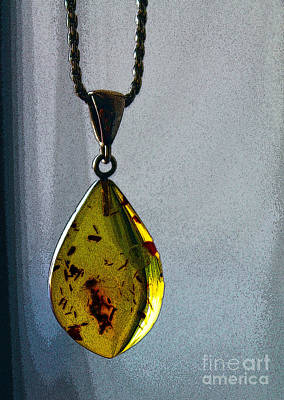 Photograph - Amber Pendant by Nina Silver