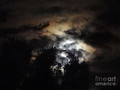 Photograph - Amber Sky Moonscape by Ecinja Art Works