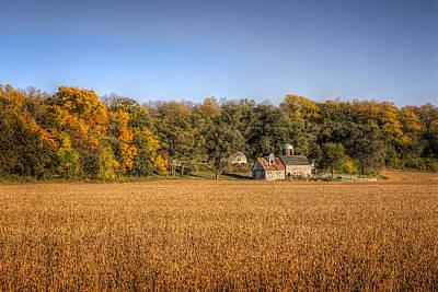 Illinois Farm Land Photograph - Amber Waves Of Grain by Jeff Burton