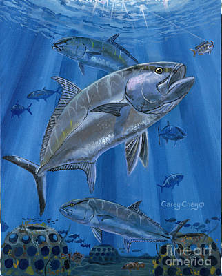 Key West Painting - Amberjack In0029 by Carey Chen