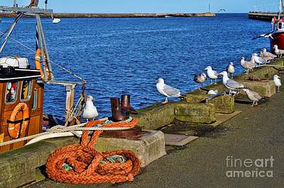 Amble Quayside Art Print