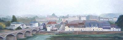 Amboise Painting - Amboise And The Loire River France by Jan Matson
