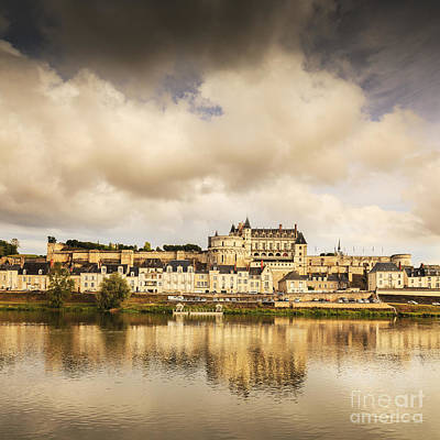 Watercolor Typographic Countries - Amboise Loire Valley France by Colin and Linda McKie