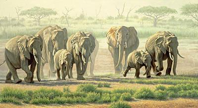 Amboseli Promenade Art Print by Paul Krapf