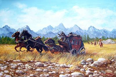 Painting - Ambush by Perrys Fine Art