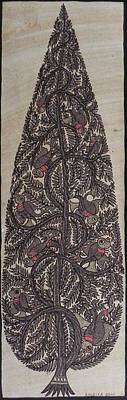 Indian Tribal Art Painting - Amd 04 by Ambika Devi