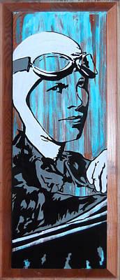 Famous Aviators Painting - Amelia Earhart by Jill Wells
