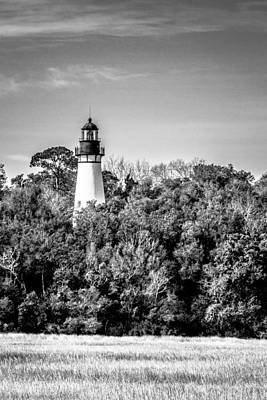 Art Print featuring the photograph Amelia Island Lighthouse by Wade Brooks