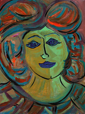 Portraits Painting - Amelia  by Oscar Penalber