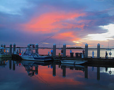 Art Print featuring the photograph Amelia's Marina by Paula Porterfield-Izzo