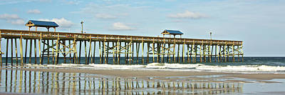 Art Print featuring the photograph Amelia's Pier by Paula Porterfield-Izzo