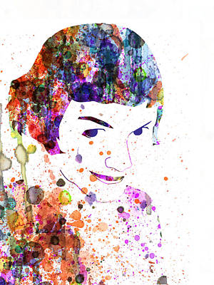 Comedy Painting - Amelie Watercolor by Naxart Studio