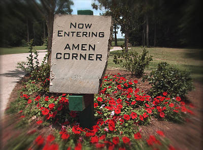 Putt Photograph - Amen Corner - A Golfers Dream by Ella Kaye Dickey