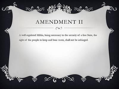 Constitution Digital Art - Amendment II by Ron Hedges