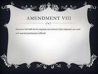 Constitution Digital Art - Amendment Viii by Ron Hedges