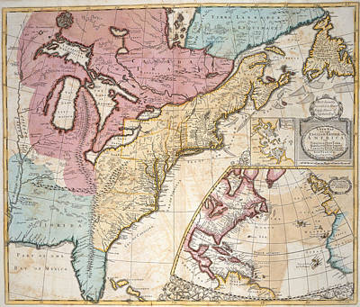 Cartography Photograph - America And Canada by British Library