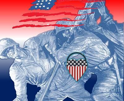 Painting - America by Belinda Threeths