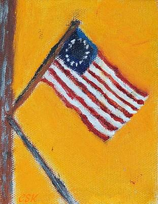 America Colonial Flag 13 Stars Original by Carl S Kralich