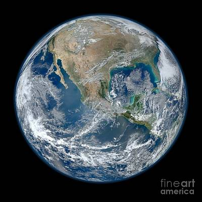 Photograph - America From Space by Celestial Images