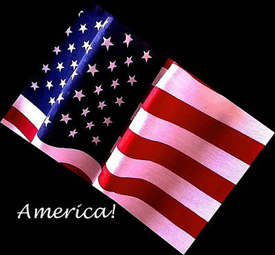 Photograph - America Greeting Card by Bill Owen
