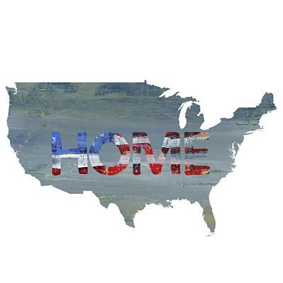 Patriotic Painting - America Home by Pamela J. Wingard