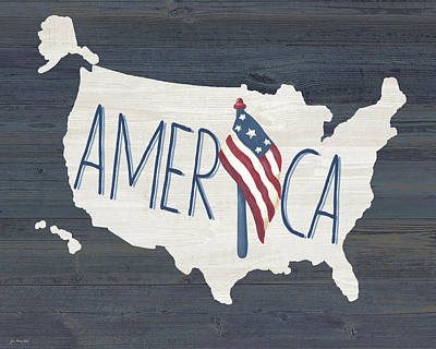 United States Of America Painting - America by Jo Moulton