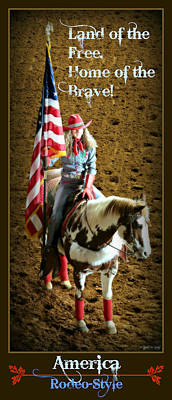 Anthem Wall Art - Photograph - America -- Rodeo-style by Stephen Stookey