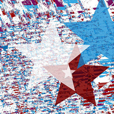 Digital Art - America Stars by Jessica Wright