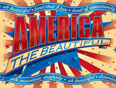 Made In The Usa Digital Art - America The Beautiful by Barry Orkin
