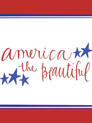 Patriotic Painting - America The Beautiful by Katie Doucette
