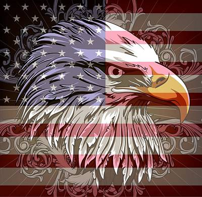 Digital Art - America The Beautiful by Stanley Mathis