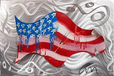 America Wave - Edition 3 Art Print by Mac Worthington
