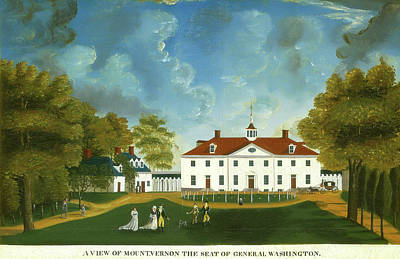 Mount Vernon Painting - American 18th Century, A View Of Mount Vernon by Quint Lox