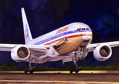 Painting - American 777 by Douglas Castleman