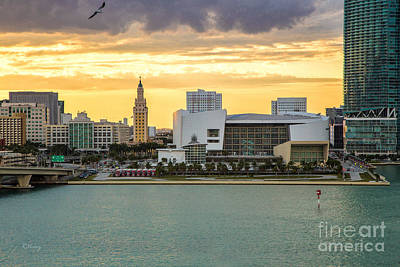 Photograph - American Airlines Arena And The Iconic Freedom Tower by Rene Triay Photography