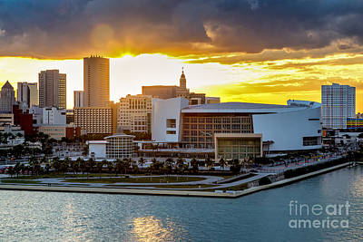Photograph - American Airlines Arena by Rene Triay Photography