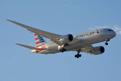 Boeing 787 Dreamliner Photograph - American American Airlines First Boeing 787-823 N800an Landing Phoenix Sky Harbor March 7 2015  by Brian Lockett