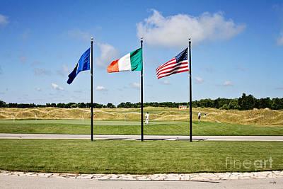 American And Irish Flag Art Print by Scott Pellegrin