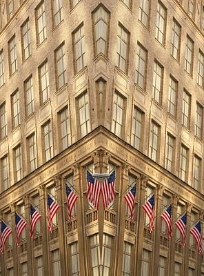 Flying Flag Photograph - American Architecture by Dan Sproul