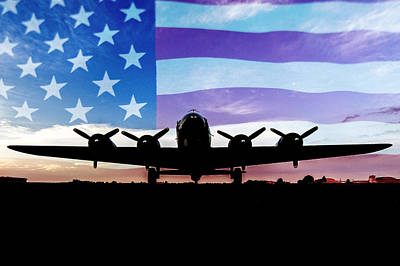 American B-17 Flying Fortress Art Print by Terry DeLuco