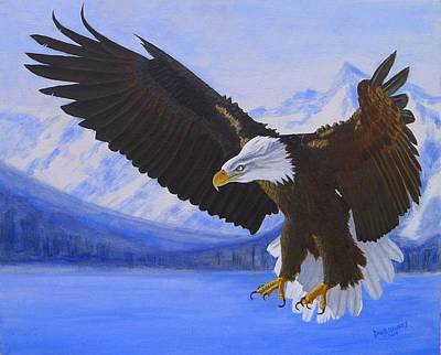 Painting - American Bald Eagle by David Hawkes