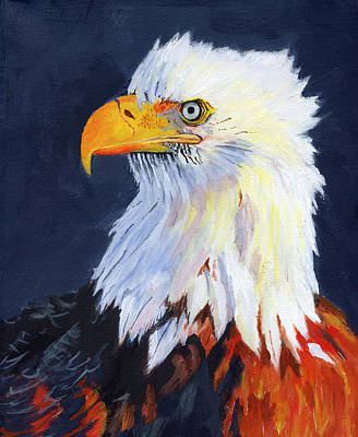 Yellow Beak Painting - American Bald Eagle by Mike Lester