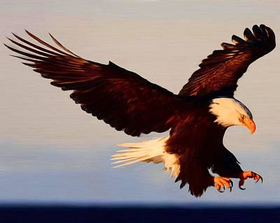 Zeus Painting - American Bald Eagle by Troy Caperton